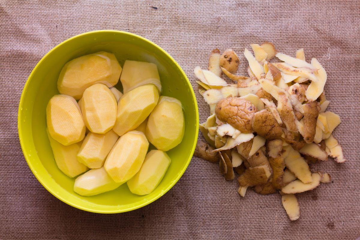 Geschälte Kartoffeln